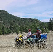 Out on our ATVs near the San Francisco River in New Mexico