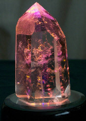 crystal#03 on LED with gold/pink light shining through